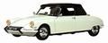 Citroen DS 19 Cabriolet 1961  Wit  White + soft top 1/18