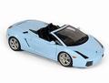 Lamborghini Gallardo Spyder Blauw Blue + soft top 1/18