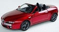 Alfa Romeo Spider Cabrio Rood Metalli Red + soft top 1/18