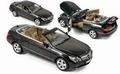 Mercedes Benz E-Class 2010 Zwart solid Black + soft top 1/18