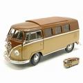 VW Volkswagen T1 micro bus 1962 Bruin Brown 1/18