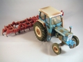 Ford 7000 & Cultivator set Weathered effect  Dirt edition  1/32