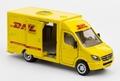 Mercedes benz pakket dienst DHL Postcar Geel Yellow 1/50