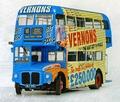 Routemaster London dubbel dekker Vernons Blauw Bue 1/24