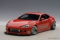Toyota 86 Rocket Bunny Rood Red/ Silver wheels 1/18
