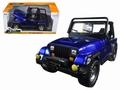 Jeep wrangler 1992 Cabrio Blauw Blue 1/24