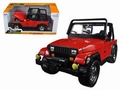 Jeep wrangler 1992 Cabrio Rood Red 1/24