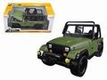 Jeep wrangler 1992 Cabrio Groen matt Green 1/24