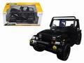 Jeep wrangler 1992 Cabrio Zwart  Black 1/24