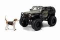 Jeep Wrangler Cabrio 2007 Zwart Black + camo wrap 1/24