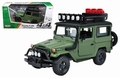 Toyota FJ Land Cruiser Groen Green + roof rack en snorkel 1/24
