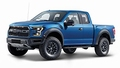Ford Raptor 2017 Blauw Blue Pick up 1/24