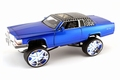 Cadillac Brougham 1985  Blauw Blue Donk Box & Bubble 1/24