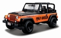 Jeep Wrangler Harley Davidson 1/27 Zwart Oranje Black orange