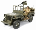 Jeep Willy's Groen Green + figuur + figure 1/43