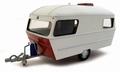 Caravan klein model met gas fles 1/43