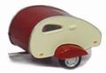 Mini Caravan Beige Rood  1/43