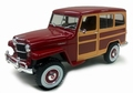 Jeep Willy's Station wagon Woody 1955 Rood Red 1/18