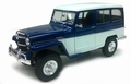 Jeep Willy's Station wagon Woody 1955 Blauw - wit Blue white 1/18