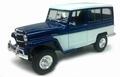 Jeep Willy's Station wagon  1955 Blauw - wit Blue white 1/18