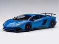 Lamborghini Aventador LP750-4 sv Blu Le mans/ Blue 1/18