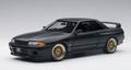 Nissan Skyline GT-R R32 V-Spec II Tuned version Matt Black 1/18