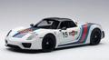 Porsche 918 spyder Wit  White Martini # 15 1/18