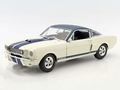 Shelby GT 350 Prototype 1966 Wit White + vinyl roof 1/18