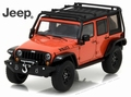 Jeep Wrangler Unlimited 2015 Oranje Orange + roofrack 1/43