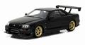 Nissan Skyline 1999  GT-R R 34  Zwart  Black 1/18