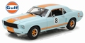 Ford Mustang Coupe Gulf blue with orange stripes 1/18