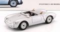 Porsche 550 Spyder 1956 Zilver  Silver Cabrio 1/18