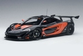 Mc Laren P1 GTR Dark Grey metallic Orange 1/18