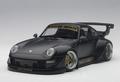 Porsche 911  RWB 993  Matt Black  gold wheels 1/18