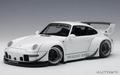 Porsche 911 RWB 993 White  Gun grey wheels 1/18