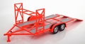 Auto - car trailer aanhangwagen Orange Red   Oranje Rood STP 1/18