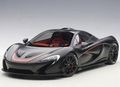 Mc Laren P1 matt Black/ red accents 2013 1/18