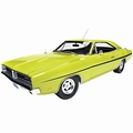 Dodge Charger R/T 1969 Geel Yellow  Dirty Mary - Grazy Larry 1/18