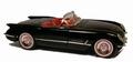 Chevrolet Corvette 1954 Zwart Black Cabrio 1/18