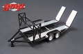 Auto transporter aanhangwagen Car trailer Black - zwart 1/43