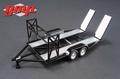 Auto transporter aanhangwagen Car trailer Black - zwart 1/43