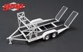 Auto transporter aanhangwagen Car trailer Grey - Grijs 1/43