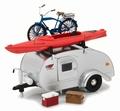 Caravan Camper aanhangwagen trailer + accessoires 1/24