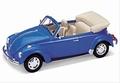 VW Volkswagen Kever Beetle Cabrio Blauw Blue Convertible 1/24