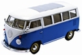 VW Volkswagen T1 Bus 1963 Bluaw/wit  Blue/white 1/24