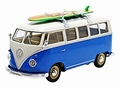VW Volkswagen T1 Bus 1963 Blauw/wit Blue/white + surfboard 1/24