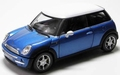 Mini Cooper Blauw Blue wit dak  White roof 1/24