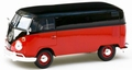 VW Volkswagen Type 2 T1 delivery Van Zwart rood-  Black red 1/24