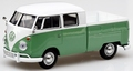 VW Volkswagen Type 2 T1 Double Cab pick up Green White 1/24
