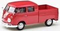 VW Volkswagen Type 2 T1 Double Cab pick up Rood Red 1/24